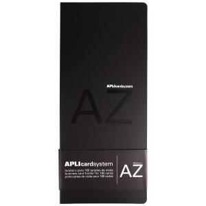 Porta cartões de polipropileno cor preta com bolsas fixas para 160 cartões APLI