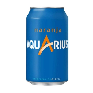 Pack de 24 latas de AQUARIUS laranja 33 cl