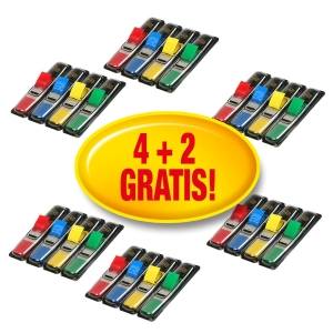 Caja 4+2 packs Post-it Index 1/2   4 disp cada pack cores surtidas (35 x disp)