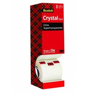 Pack 8 Fitas adesivas Scotch Cristal Supertransparente Dimensões: 19mm x 33m