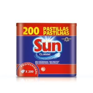 Caixa de 200 pastilhas para lavavajillas SUN Tablets