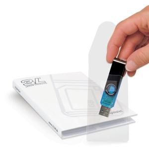 Bolsa com 10 bolsas autoadesivas para USB 3L