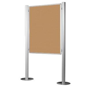 Tabuleiro anuncios de cortiça com suporte pé BI-OFFICE dimensões 1200x900 mm