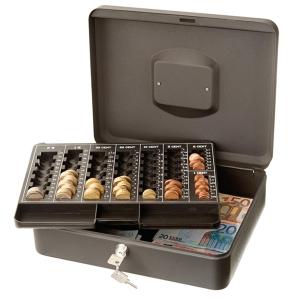 Caixa de dinheiro cor cinzaARCHIVO 2000  Dimensões: 250 x 95 x 300mm