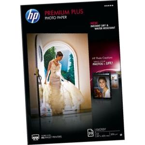 Pacote de 20 folhas de papel fotográfico A3 300g/m2 HP Premium Plus Q1786A