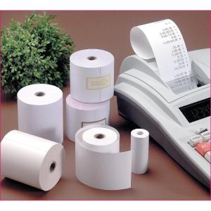 Pack 8 bobinas papel térmico para calculadora 55g/m2. 42mx80mmx60mm.