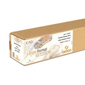 Rolo de papel plotter opaco CAD 90 g/m2 CANSON. Largo: 914 m. Largo: 50 m