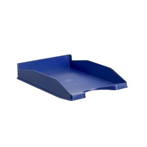 Bandeja portadocumentos LYRECO Budget cor azul Dimensões: 255 x 60 x 345mm