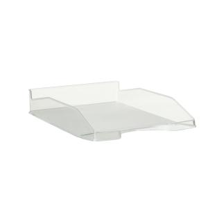 Bandeja portadocumentos LYRECO Budget cor cristal Dimensões: 255 x 60 x 345mm