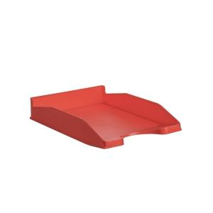 Bandeja portadocumentos LYRECO Budget cor vermelha Dimensões: 255 x 60 x 345mm