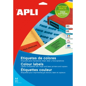 Caixa de 480 etiquetas para inkjet, laser e fotocopiadora APLI 1591 amarelas