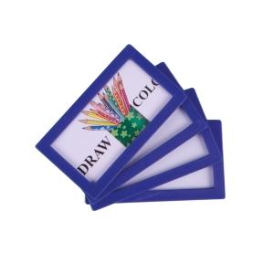 Pack de 4 molduras adesivas TARIFOLD 80 x 45mm cor azul