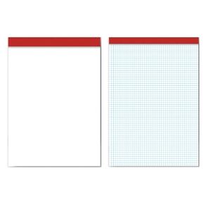 Bloco de notas PACSA com 80 folhas tamanho 16º sem capa