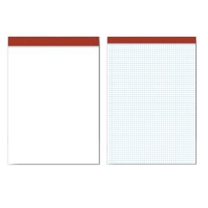Bloco de notas PACSA com 80 folhas quadriculadas
