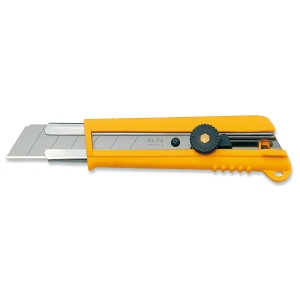 Faca profissional OLFA NH-1de 25 mm cor amarela