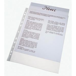 Pack de 100 fundas multitaladro folio 16 taladrospp cristal 110micras ESSELTE