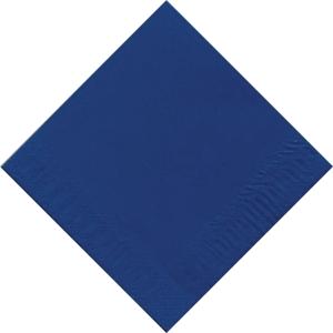 Pacote 125 guardanapos de papel Duni - Folha dupla - 330 x 330 mm - azul