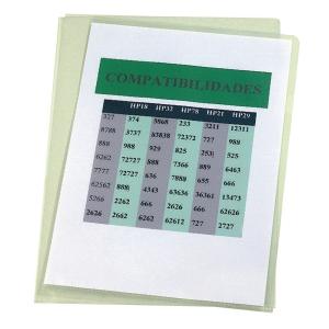 Pack de 100 dossiers ranhura A4 PVC liso ESSELTE