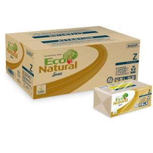 Caixa de 18 packs de 220 toalhas de papel LUCART Eco Natural dobrado em z