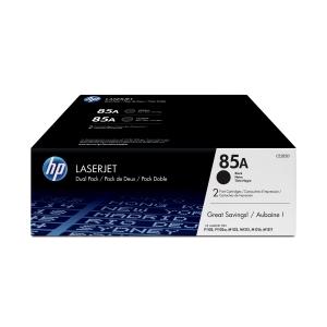 Pack de 2 toners laser HP 85AD preto CE285AD para LaserJet P1102/w