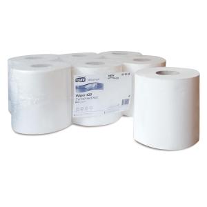 Caixa de 6 rolos de toalhas TORK papel virgem 2 camadas 150 m branco