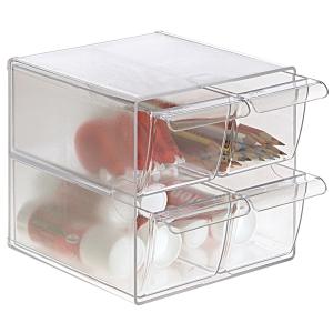 módulo organizador com 4 gavetas 190x152x152 transparente