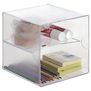 módulo organizador cubo com 2 divisões 152x152x152 transparente