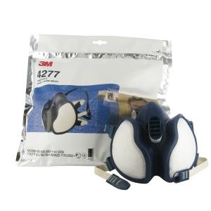Meia máscara descartável 3M 4277 para vapores e partículas