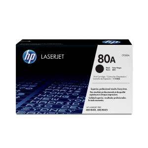 Toner laser HP 80A preto CF280A para LJ Pro 400 M401A