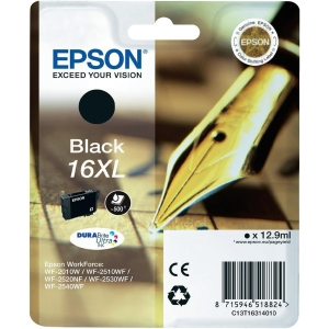 Tinteiro EPSON preto alta capacidad T163140 para WorkForce WP-2010/2510/2520