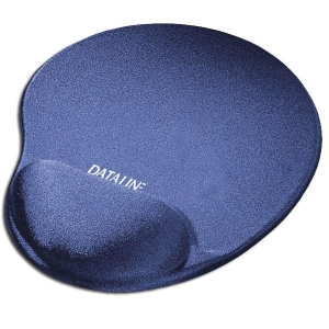 Tapete com repousa pulsos para rato DATALINE AZUL de licra azul