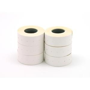 Pack 6 rolos 1000 etiquetas brancas permanentes para etiquetadora APLI 1 linha