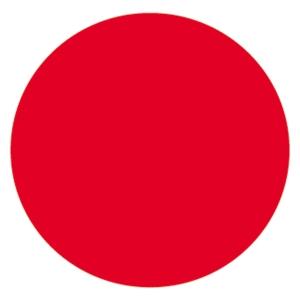 Etiqueta de señalização de vinilo autoadesivo ponto vermelho APLI
