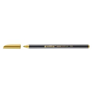 Marcador com ponta de fibra EDDING 1200 cor dourada