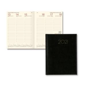 Agenda de secretária CONDOR EXCEL semana vista vertical, 200 x 270 mm. Cor preto