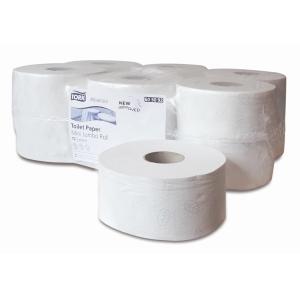 Pack de 12 rolos de papel higiénico jumbo TORK de duas folhas branco