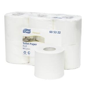 Pack de 6 rolos de papel higiénico Premium TORK de duas folhas branco