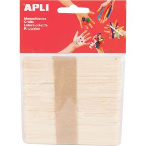 Pack de 50 paus de gelado em madeira APLI