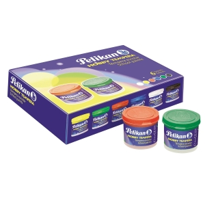 Pack de 6 guaches escolares PELIKAN 40ml cores sortidas