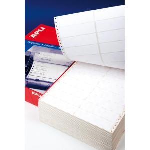 Caixa de 2000 etiquetas APLI 559 impressora agulhas 1 saída 101,6x74,1mm brancas