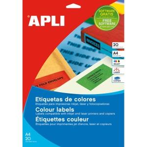 Caixa de 480 etiquetas para inkjet, laser e fotocopiadora APLI 1593 vermelhas