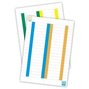 Pack de 10 folhas de 38 etiquetas para visores de pastas de suspensão