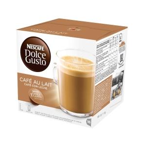 Pack de 16 cápsulas DOLCEGUSTO de café com leite