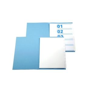 Pack de 10 jogos de 5 separadores sem furos A4 branco