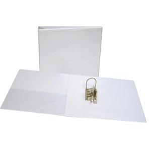 Arquivador de alavanca LYRECO personalizável 2 argolas PVC branco