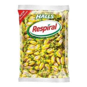 Saco de rebuçados RESPIRAL limão/mentol 1kg