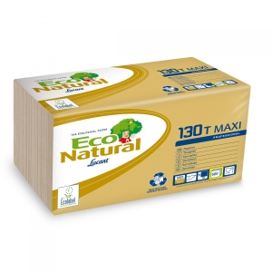 Pack de 500 guardanapos LUCART Eco Natural 30x30cm