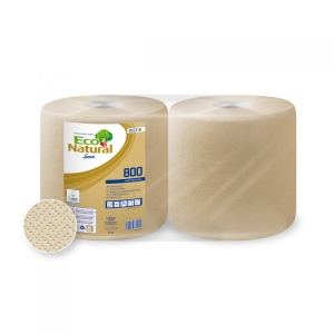 Pack de 2 bobinas industriais LUCART Eco Natural 800 200 metros
