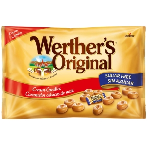 Saco de rebuçados WERTHER S ORIGINAL sem açúcar 1kg