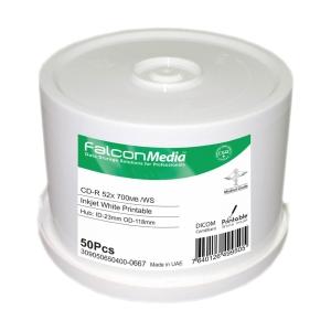 Bobina de 50 CD-R FALCON 80  700 Mb para impressora de tinta